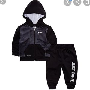 Nike Baby Boys 2 Piece Zip Up Jogging Outfit
